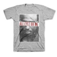 Tupac Shakur All Eyez - Mens Heather Grey T-Shirt