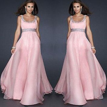 Sexy Womens Summer Dress Sequins Evening Party Maxi Long Gown