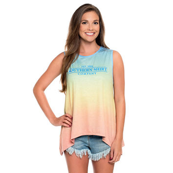 Ombre Swing Tank in Sunset by The Southern Shirt Co.