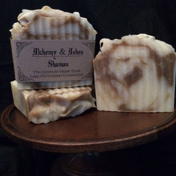 Shaman 7th Century Cold Process Hemp Soap - Vegetable Based with Herbs & Essential Oils