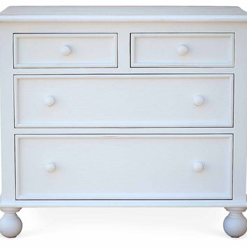 """Beside-the-Sea 34"""" Dresser, White, Chest of Drawers"""