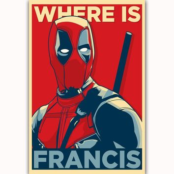 Deadpool Dead pool Taco MQ1494  Superhero DC Comic Movie Film Vintage Hot New Art Poster Top Silk Light Canvas Home Decor Wall Picture Printings AT_70_6