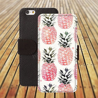 Pineapple Wallet Case iphone 5/ 5s iphone 4/ 4s iPhone 6 6 Plus iphone 5C Wallet Case , iPhone 5 Case, Cover, Cases colorful pattern L002