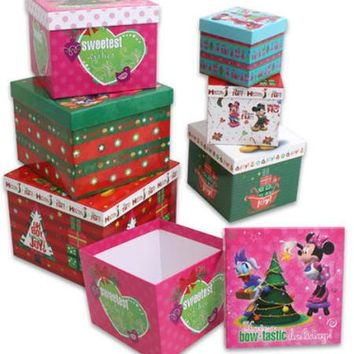 minnie and mickey 6-piece nesting cube box set Case of 16
