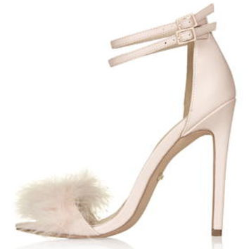 REESE Feather Sandals - Nude