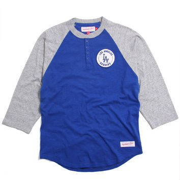 Los Angeles Dodgers Unbeaten Henley Blue / Grey