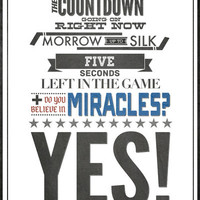 1980 Miracle on Ice Hockey Print