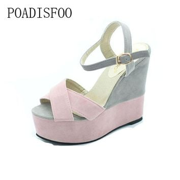 POADISFOO 2017 Summer Sandals With New high-heeled Wedge With The Color Of The United Kingdom Muffin Roman Bottom shoes.xl-07
