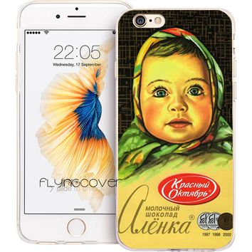 Fundas Russian Chocolate Transparent Soft TPU Phone Cases for iPhone X 7 8 Plus Case for iPhone 5S 5 SE 6 6S Plus 5C 4S 4 Cover.