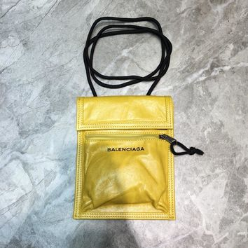 DCCK Balenciaga Fashion Women Men Gb49619 Leather Rope Bag