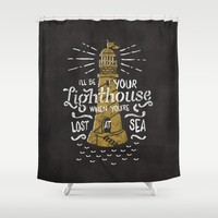Lost At Sea Shower Curtain by Seaside Spirit
