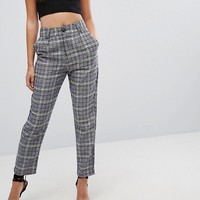 PrettyLittleThing Check Tailored Trouser at asos.com