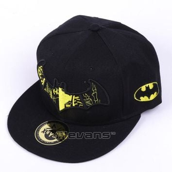 Trendy Winter Jacket Canvas Baseball Caps Adult Batman Unisex Embroidered Adjustable Snapback Hat Hip Hop Fashion Cap AT_92_12