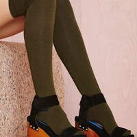 Prepster Thigh High - Olive