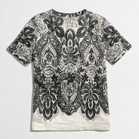 Factory lace-print sweatshirt - short sleeve - FactoryWomen's Knits & Tees - J.Crew Factory