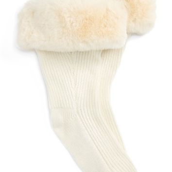 UGG® Rain Boot Socks with Faux Fur Cuff (Women) | Nordstrom