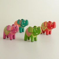 Marsali Elephant Tealight Holders, Set of 4
