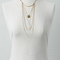 AEO Opal Stone Layered Necklace, Gold