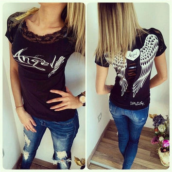 Fashion Women Casual Short Sleeve Loose Summer Cotton T-shirt Tops Shirt Blouse = 1956750148