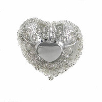 Vintage Gorham Sterling Silver Pierced and Footed Dish