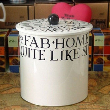 Extra Large White Home Decor Coffee Tea Container Jar Can Metal Kitchen Home Deor