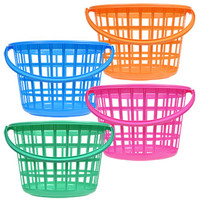 Bulk Colorful Round Plastic Storage Baskets with Handles at DollarTree.com