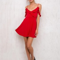 Motel Cannes Dress Heart Red