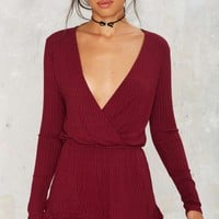 Take a Wrap Ribbed Romper