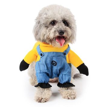 Pet Clothes Pet Costume Minion Costumes Dog Clothes