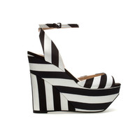 FABRIC WEDGE SHOE - Shoes - Woman | ZARA United States