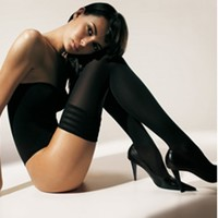Buy Wolford Luxury Lingerie - Wolford Velvet de Luxe 50 Opaque Stay-Up  | Journelle Fine Lingerie