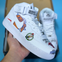 DCCK2 N362 Nike Air Force 1 AF1 Supreme Chicago Bulls High Casual Skate Shoes WHITE