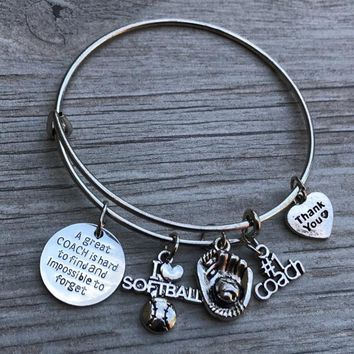Softball Great Coach Is Hard to Find Bracelet