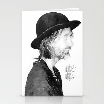 Thom Yorke Watercolor portrait by MrNobody Stationery Cards by Mrnobody