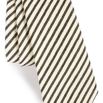 Men's ALEXANDER OLCH Stripe Seersucker Cotton Tie