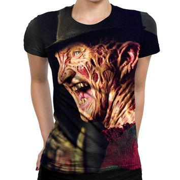 Freddy Kreuger Laughing Womens T-Shirt