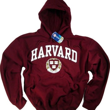 Harvard Hoodie T-Shirt Law College University Crimson Crew NCAA Officially Licensed