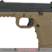 ISSC Licensed M-22 Full Metal Airsoft GBB Gas Blowback Pistol by WE Tech- (Color: Desert) (C02 Mag