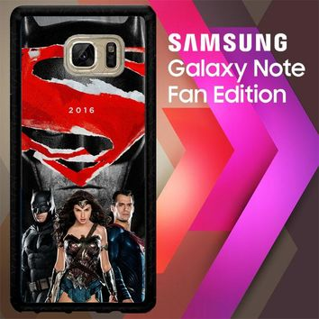 Batman Vs Superman W3550 Samsung Galaxy Note FE Fan Edition Case