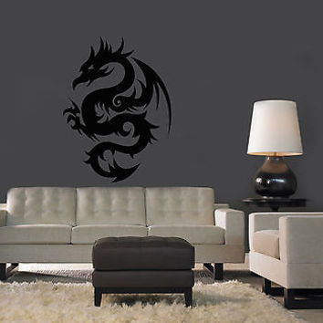 WALL VINYL STICKER  MURAL  ART DECAL TRIBAL TATTOO CHINESE DRAGON A1280