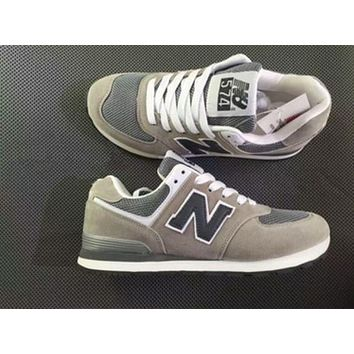 """""""New Balance"""" Stylish Unisex Personality All-Match N Words Breathable Couple Sneakers Shoes Grey I"""