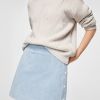 Stitch leather skirt - Women | MANGO USA