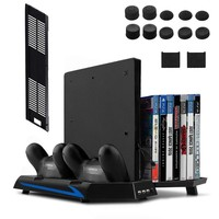 Keten  PS4/PS4 Slim Vertical Stand with Cooling Fan Controller Charger Station for PlayStation 4 Console Dualshock 4
