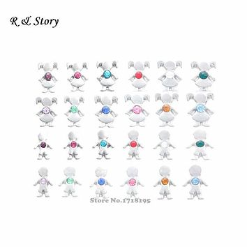 Spring 2015 Floating Charms Birthstones Boy And Girl Children Fits Locket All Months 240pcs/Lot Mothers Day LFC_1470