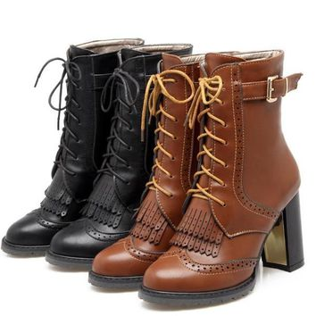 Lace Up Ankle Boots |  High Heel Ankle Boots