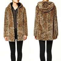 New Sexy Women Winter Warm Leopard Print Faux Fur Coat Long Jacket Outwear  7_S (Size: M, Color: Leopard) = 1929978820