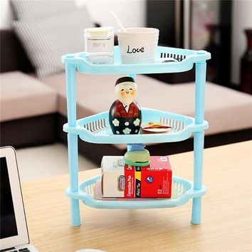 3-layer Holder Organizer Desk Plastic Storage Box Rack Kitchen Bathroom Toilet Multilayer Shelves