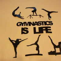 Gymnastics is Life Wall Art Stickers Decals