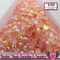 200 pcs 4mm AB PEACH PINK Candy Jelly Rhinestones