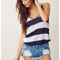 BLUE LIFE CROP LOW BACK TANK